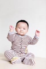 Closeup portrait of a baby boy