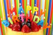 Geburtstagstorte mit Flammen