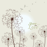Love Card With Dandelions