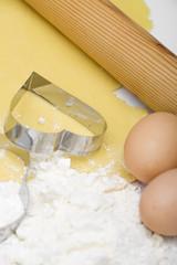 Uova farina per biscotti