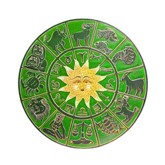 Green horoscope wheel