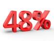 3d Schrift 48% rot