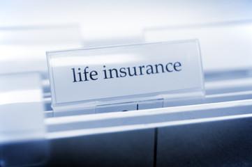 Ordner mit Beschriftung life insurance