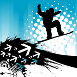 Fototapety snowboarding background