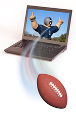 Football and Laptop Computer.