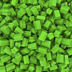 Toy houses background