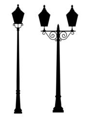 street lamp outline silhouette