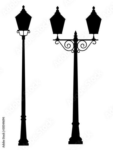 street lamp outline silhouette