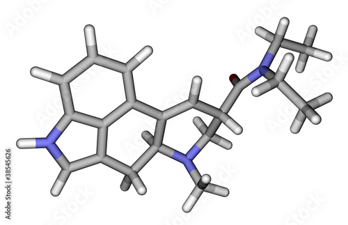 LSD sticks molecular model
