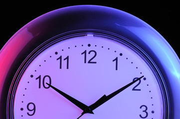 Wall Clock on Black Background