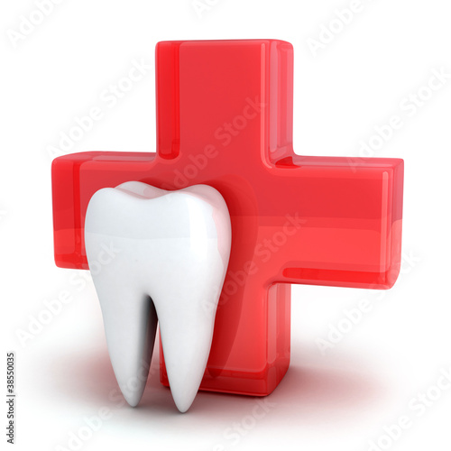 Cross and tooth