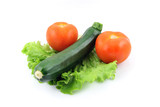 zucchini and tomato on salad