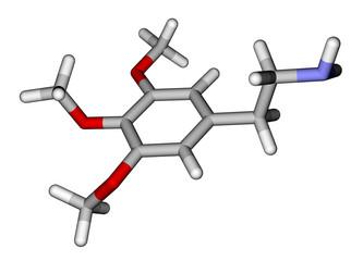Psychedelic mescaline molecule