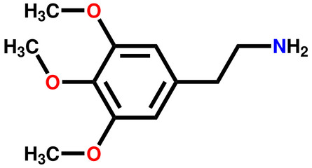 Psychedelic mescaline structural formula