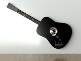 3d Audio player guitar shape, design furniture