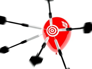 Business Target, Aspiration and Success, Arrows and Balloons
