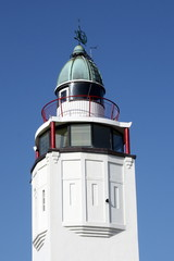 The tower of the lighthouse of Harlingen in the Netherlands