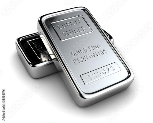 Leinwandbild Motiv Two platinum ingots