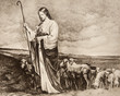 Good Shepherd - old lithography