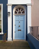 colorful door, Notting hill, London