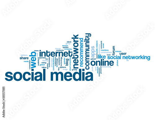 """SOCIAL MEDIA"" Tag Cloud (social networking information society)"