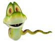 snake cartoon looking at you