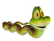 snake cartoon going on