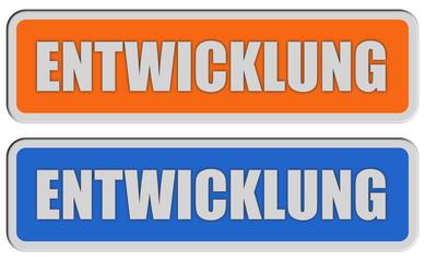 2 Sticker orange blau rel ENTWICKLUNG