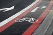Strassenmarkierung Radweg