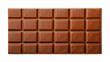 Milk chocolate bar top view