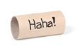 leere WC-Papier Rolle / Schadenfreude / Humor / Pech