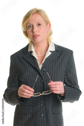 Businesswoman and glasses