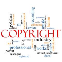 Copyright word cloud concept