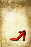 red shoe background