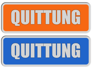 2 Sticker orange blau rel QUITTUNG