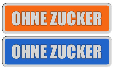 2 Sticker orange blau rel OHNE ZUCKER