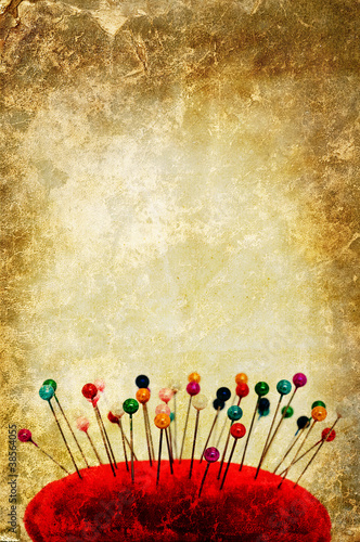 pin cushion backdrop