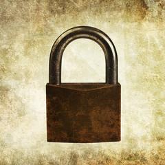 padlock print