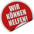 Sticker rot rund WIR KÖNNEN HELFEN!