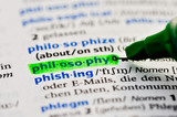 philosophy grün markiert poster