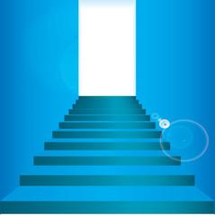Vector blue staircase