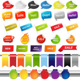 Set Of Colorful Sale Stickers And Labels