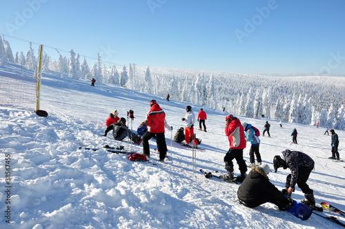 Zimowy krajobraz - wyciąg  Lolobrigida, Szklarska Poręba - 38567455