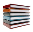 Stack of colorful leather note books