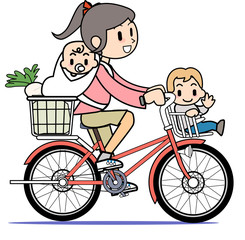 Mother who rides a bicycle04