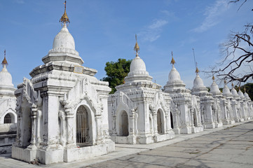 Kuthodaw Paya in Mandalay,Myanmar