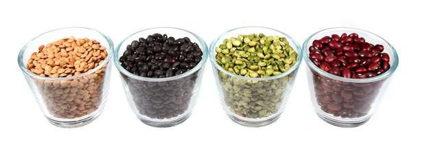 Beans, lentils and split peas