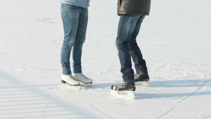 Skating rink romance