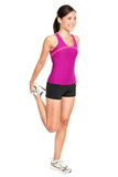 Fitness woman stretching full body