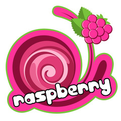 Background for design of packing. Raspberry.